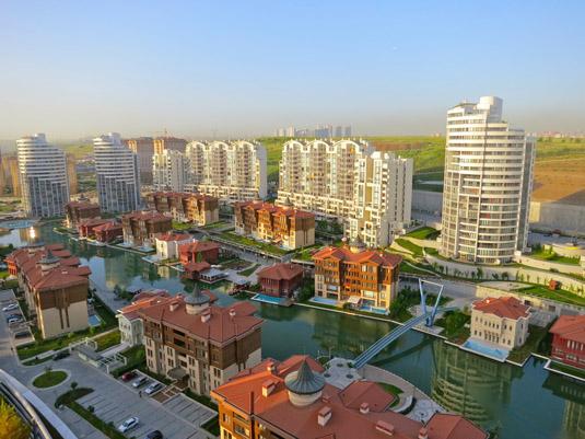 Вид с крыши на Вид на Sinpas Bosphorus City