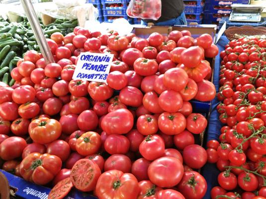 Кило органических помидиоров — 2 лиры