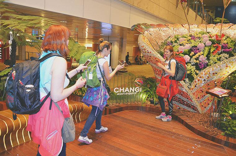 В аэропорту Чанги, Сингапур