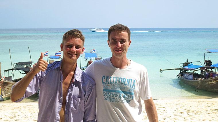 С Максимом на острове Бамбу