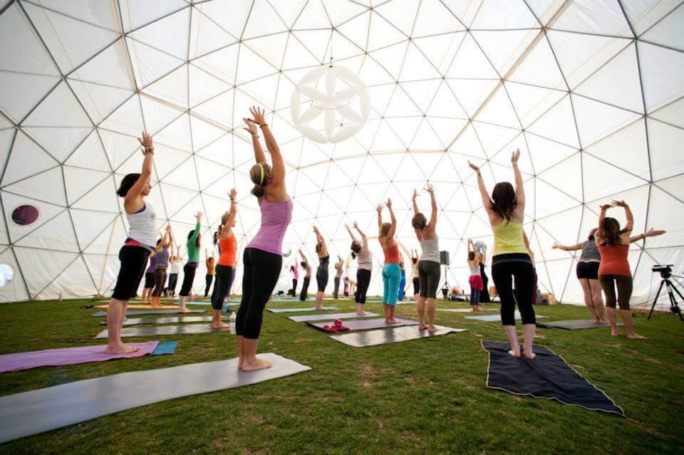 Купольный шатёр для практик йоги и саморазвития